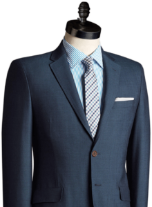 Elegantes maßgeschneidertes Herrensakko mit Hemd und Krawatte